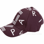 KENZO 品牌幾何LOGO尼龍棒球帽(波爾多紫) 1840044-A8
