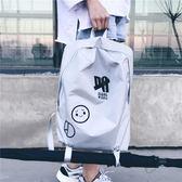 新款韓版原宿背包男女休閒簡約雙肩包潮流個性學生書包旅行包 3C優購