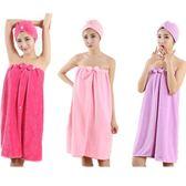 美容院抹胸浴裙女款浴袍汗蒸服比棉質棉質吸水成人加大可穿式裹胸浴巾 五色入 滿千88折