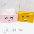 ﹝韓國Kakao Friends木製面紙盒﹞正版 面紙盒 衛生紙盒 收納盒 置物盒〖LifeTime一生流行館〗