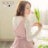 東京著衣【YOCO】多色百搭蕾絲喇叭袖圓領針織上衣-S.M.L(180110)