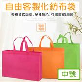 客製化 不織布提袋 無紡布袋 LOGO(中號)有底有側袋 環保袋 手提袋 購物袋 禮贈品 背袋【塔克】