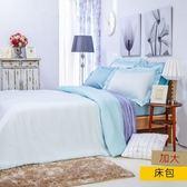 HOLA 雅緻天絲素色床包加大-水綠