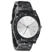 NIXON The TIME TELLER ACETATE 絕代風華時尚玻麗腕錶(黑)