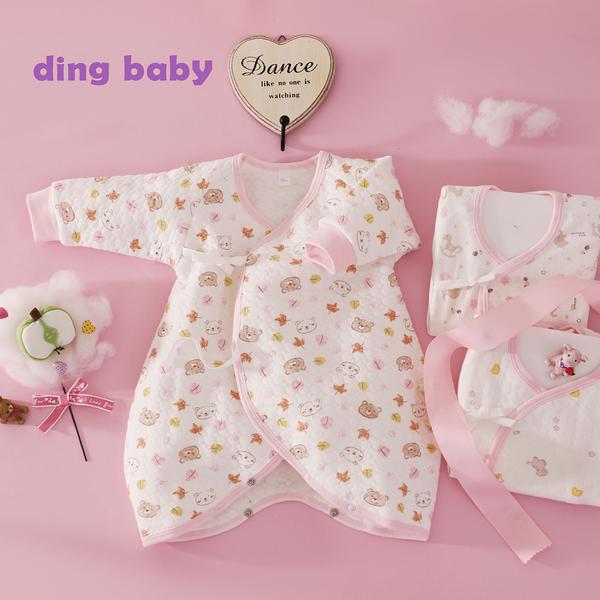 ding baby 派對歡樂蝴蝶裝三入組-粉(50-60cm) C-170311-P0-50