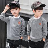 男童毛衣秋裝男童毛衣純棉兒童裝小男孩針織衫上衣秋季