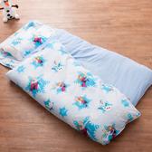 兒童睡袋  雪紡棉冬夏鋪棉兩用 迪士尼授權 -冰雪藍