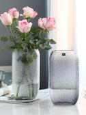 花瓶 歐式玻璃花瓶大號透明水培簡約創意擺件客廳鮮花玫瑰插花瓶干花器 ATF poly girl