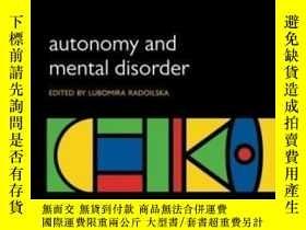 二手書博民逛書店Autonomy罕見And Mental Disorder (i