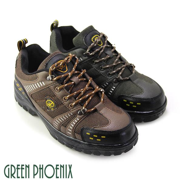 T7-17506男款安全鋼頭工作鞋 台灣製雙色綁帶安全鋼頭工作鞋【GREEN PHOENIX】