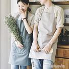 家用廚房做飯圍裙罩衣定制做畫畫時尚新款日式防水廚師工作服男女 夢露時尚女裝