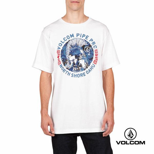 VOLCOM PIPE PRO 公益聯名款 Basic fit 短袖T-Shirt-白