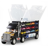 大貨車玩具貨櫃車兒童玩具小汽車合金模型套裝手提收納箱運輸卡車【全館免運】