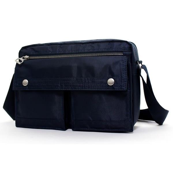 日系雙口袋雙層側背包 男包女包斜背包 porter風 NEW STAR BL49