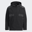 Adidas TH QCKDRAW JKT 男裝 外套 連帽 休閒 拉鍊口袋 可調式袖口 黑【運動世界】H40235