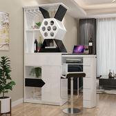 玄關櫃 現代簡約折疊靠牆酒櫃吧台桌一體家用小戶型客廳伸縮玄關隔斷櫃