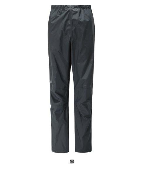 【速捷戶外】英國 RAB QWF-64 Downpour Pants 女高透氣防水長褲 (黑),登山雨褲,防水長褲