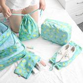 旅行收納袋套裝行李箱衣服整理包旅游內衣衣物鞋子防水便攜大容量
