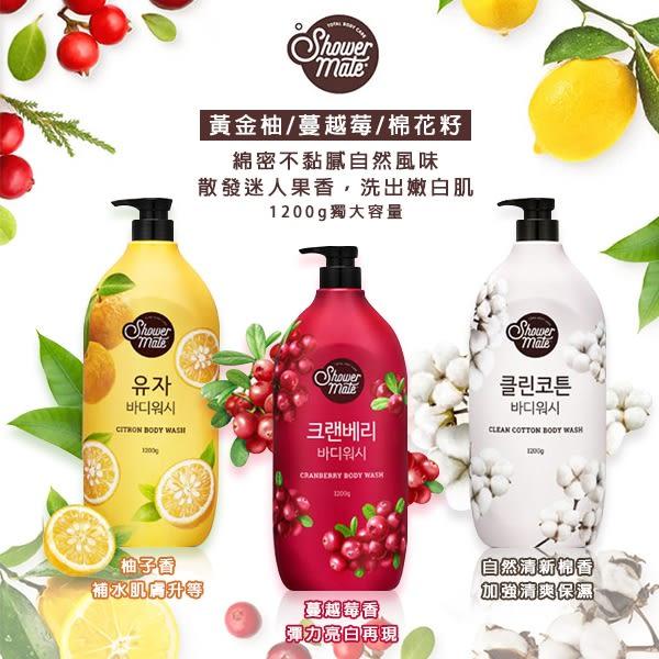 韓國shower mate 微風如沐果香沐浴露 1200ml