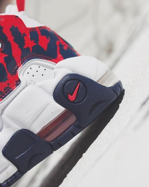 IMPACT Nike Air More Uptempo GS 大AIR 熊貓 白紅藍 氣墊 豹紋 CZ7885-100