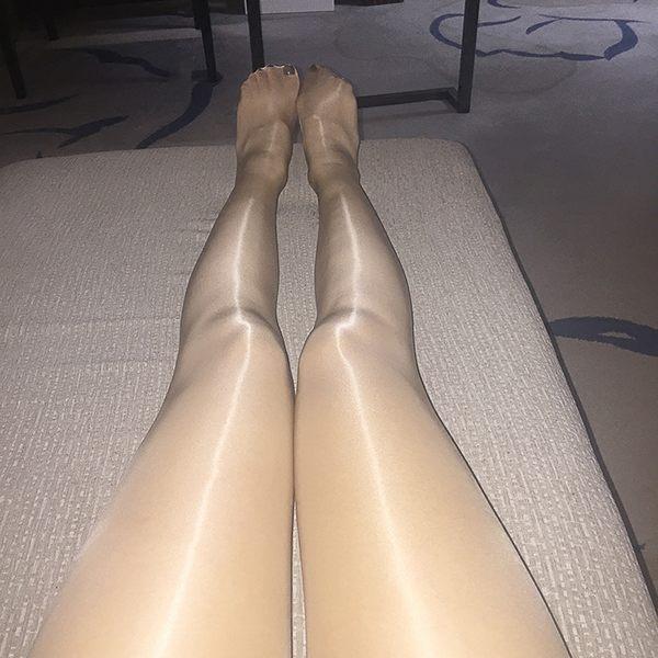絲襪長筒襪吊帶襪一線襠油亮絲滑連褲襪夏薄款油光打底襪春閃光絲襪情趣男女開襠襪