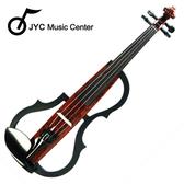 集樂城樂器 JYC SDDS-1601 彩繪琴身高級三段EQ電小提琴(木紋A款)