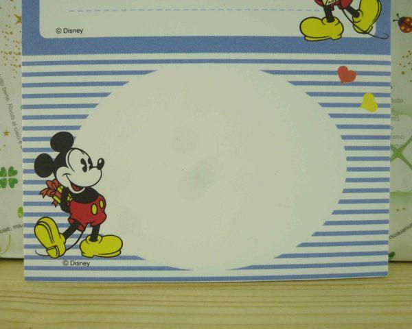 【震撼精品百貨】Micky Mouse_米奇/米妮 ~卡片式MEMO紙-藍綠色