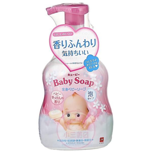 牛乳石鹼COW Q比嬰兒泡泡沐浴乳(嬰兒皂香)400ml【小三美日】