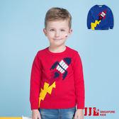 JJLKIDS 男童 火箭升空保暖純棉針織毛衣套頭衣上衣(2色)