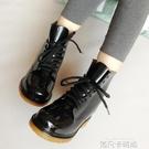 雨鞋女成人短筒冬季防滑時尚學生水鞋馬丁雨靴韓國加絨水靴膠鞋女 依凡卡時尚
