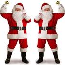 聖誕節服裝 圣誕老人服裝套裝圣誕節衣服女成人男士服飾女兒童老公公cos裝扮耶誕節