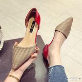 大碼低跟 布面尖頭淺口低跟女單鞋35-41 - 古梵希鞋包