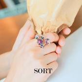 戒指 韓國魔幻立體方塊水晶 造型戒指 可調式戒指 【1DDR0007】