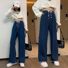 S-6XL大碼牛仔長褲~新款時尚牛仔褲直筒闊腿長褲女高腰大碼女裝230斤6808.1F039愛尚布衣