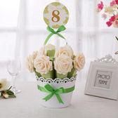 春季上新 婚慶用品花盆森系糖盒歐式喜糖盒子創意婚禮喜糖袋糖果盒