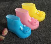 小童卡通兒童雨鞋男女童加絨雨靴子