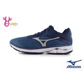Mizuno男慢跑鞋 WAVE RIDER 23 美津濃跑步鞋 男運動鞋 H9267 藍色◆OSOME奧森鞋業