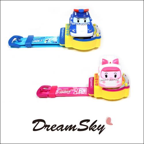 韓國 正版 ROBOCAR POLI 立體音樂造型手錶 波力 安寶 救援小英雄 DreamSky
