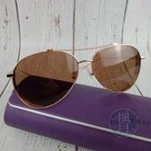 BRAND楓月 CHARRIOL 夏利豪 玫瑰色金邊 雕花 一字墨鏡 太陽眼鏡 配件
