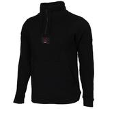 Nike Jordan 黑 灰 拼接 紅logo 立領 半開襟 長T 男(布魯克林) 2019/3月 AV2293-010