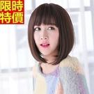 短假髮整頂假髮-韓系甜美動人薄瀏海內彎女美髮用品2色66ag5【巴黎精品】