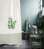 滌綸浴簾植物訂製浴室窗簾衛生間門簾防水加厚防黴隔斷簾  糖糖日系森女屋