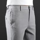 男士純棉夏褲子男夏季薄款2020新款潮修身直筒休閒褲男裝夏裝夏天 依凡卡時尚