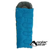 【PolarStar】加大矽纖維睡袋『藍』P20730 露營.登山.戶外.度假打工.背包客.自助旅行.居家.台灣製造