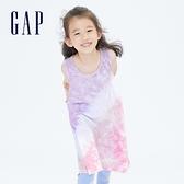 Gap女童 清爽紮染無袖連衣裙 679831-彩色紮染