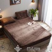 床單法蘭絨加厚床笠單件1.5m床墊套1.8米席夢思保護套冬季珊瑚絨床罩 潮人女鞋