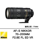 登錄送$8000 NIKON AF-S 70-200mm f/2.8 E FL ED VR 分期零利率 國祥公司貨