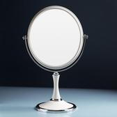 化妝鏡 化妝鏡臺式簡約大號歐式公主鏡雙面鏡高清放大鏡子書桌宿舍梳妝鏡