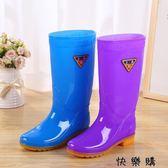 防滑水靴高筒水桶雨鞋女膠鞋夏季套鞋