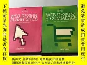 二手書博民逛書店WEB罕見DESIGN:FLASH SITES+E-COMMER
